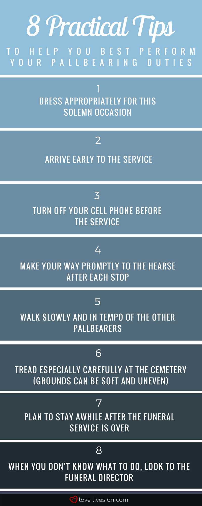 Infographic: 8 Helpful Tips for Pallbearers
