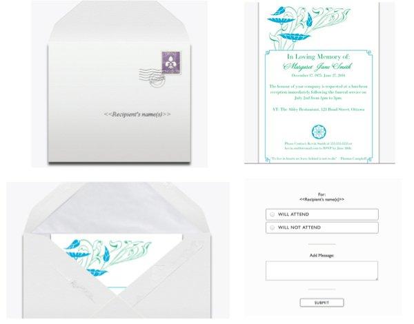 Event Kingdom Funeral Reception Invitation Preview