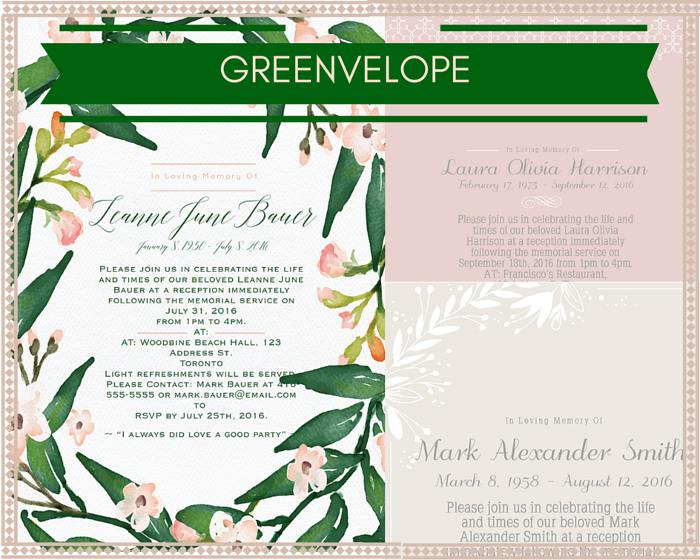 39 Best Funeral Reception Invitations | Love Lives On