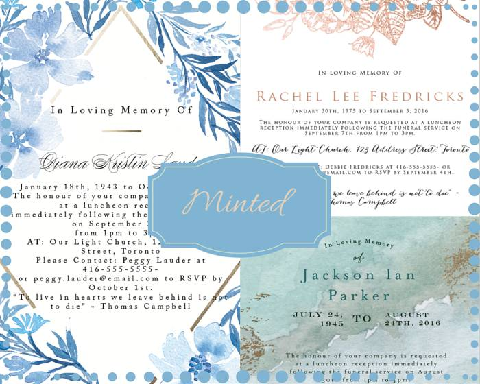 Funeral Reception Invitation: Minted