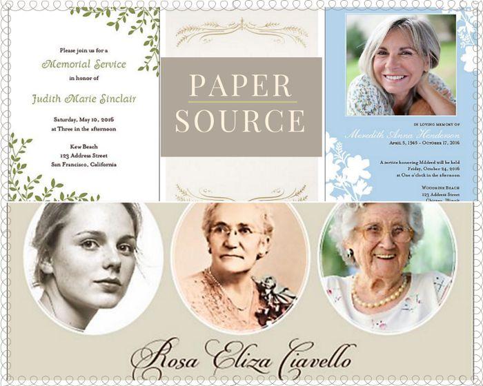 Funeral Reception Invitation: Paper Source
