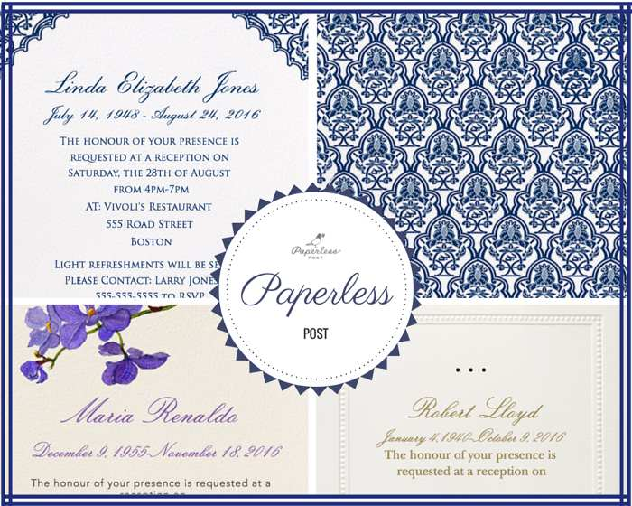Funeral Reception Invitation: Paperless Post  Invitation For Funeral