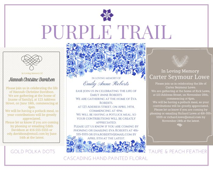 39 Best Funeral Reception Invitations – Invitation to a Funeral
