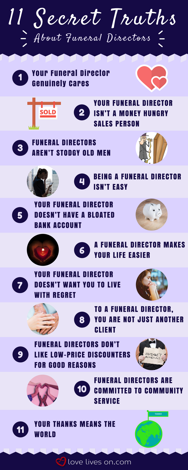11 Secret Truths About Your Funeral Director Love Lives On