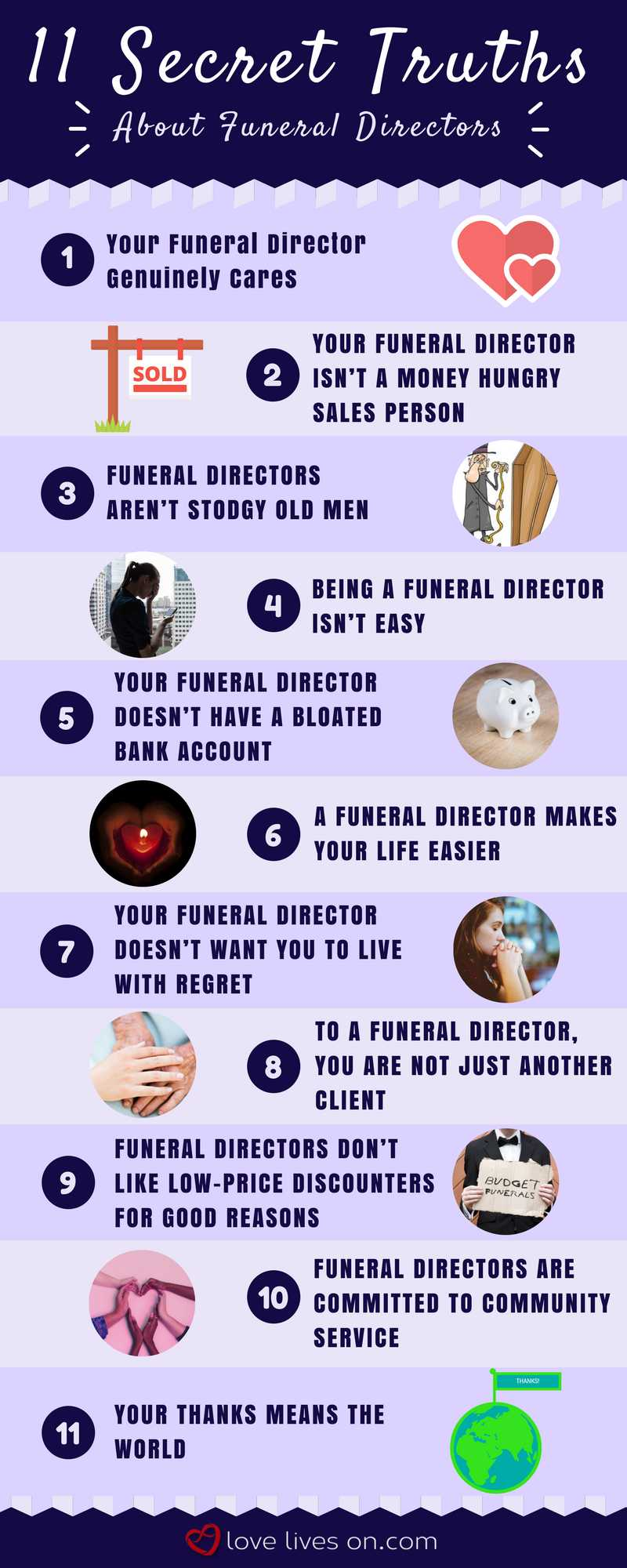 Infographic: 11 Secret Truths About Funeral Directors
