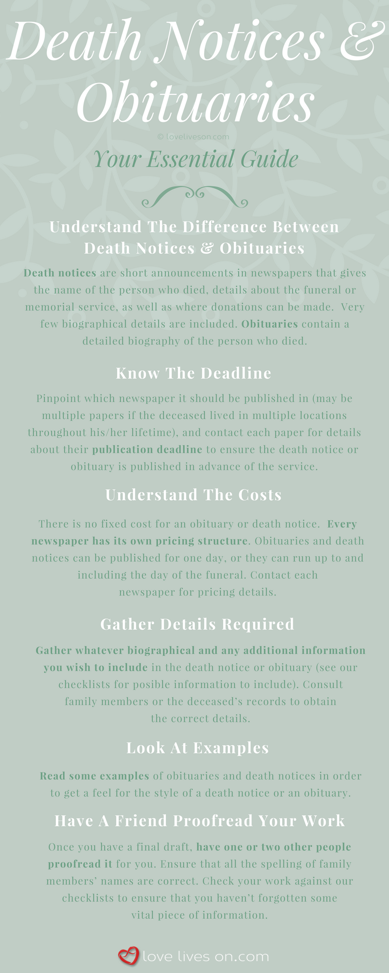 [Infographic] Death Notices & Obituaries Essential Guide
