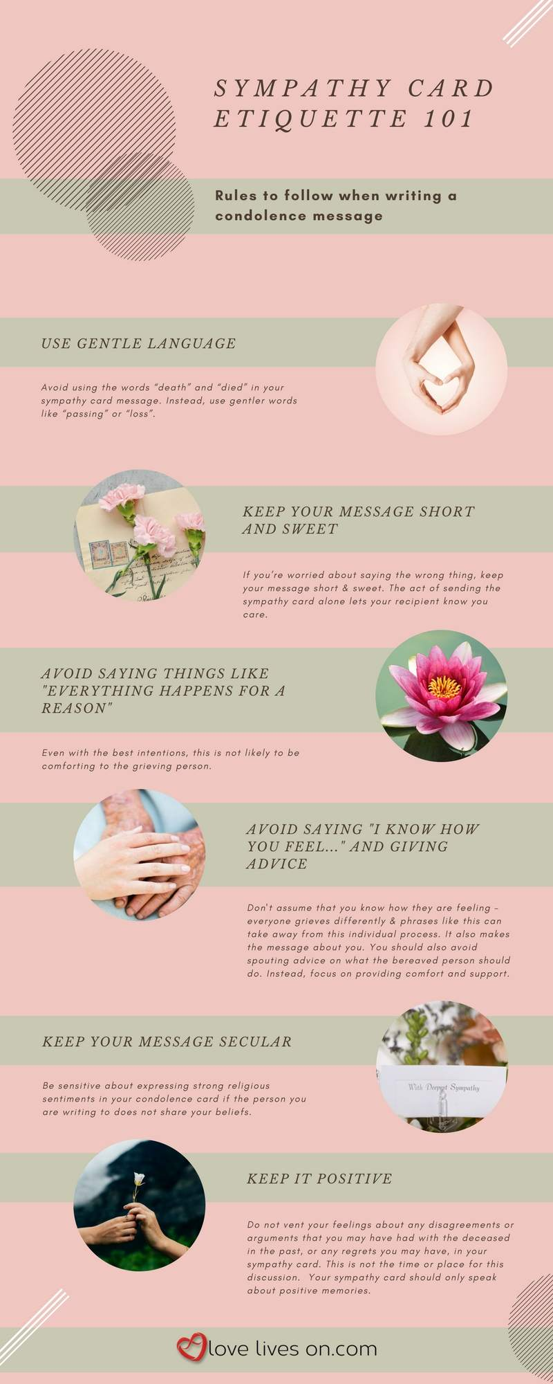 100 best sympathy quotes love lives on infographic sympathy card etiquette 101 izmirmasajfo Image collections