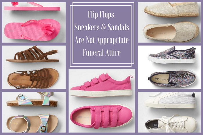 Funeral Attire for Kids: Inappropriate Shoes for Girls