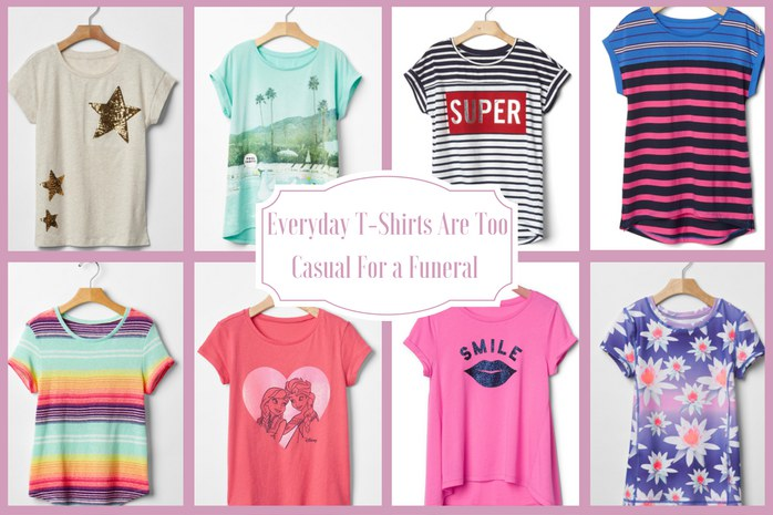 Funeral Attire for Kids: Inappropriate Shirts for Girls