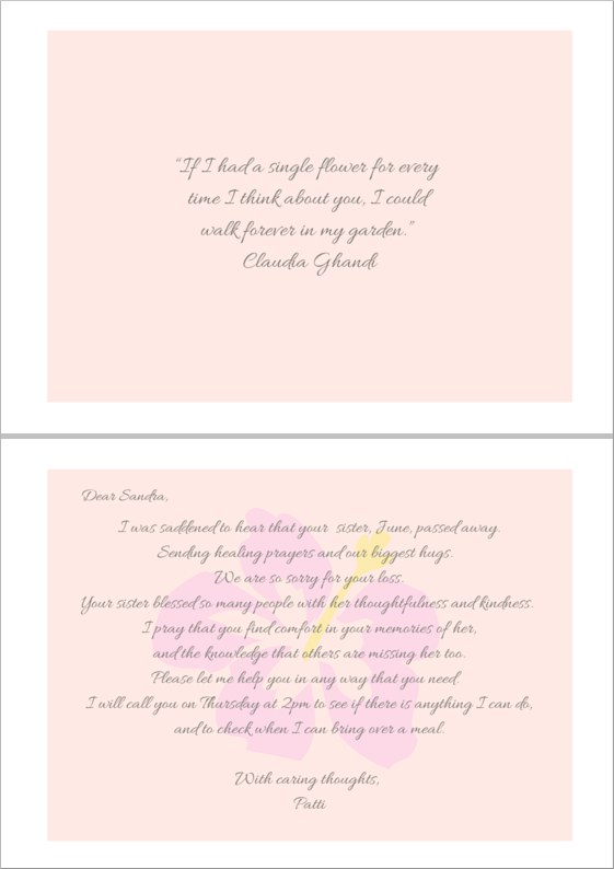 Sample Sympathy Quotes for a Sister