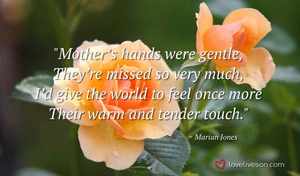 Funeral Poem for Mother Meme: Mother's Hands