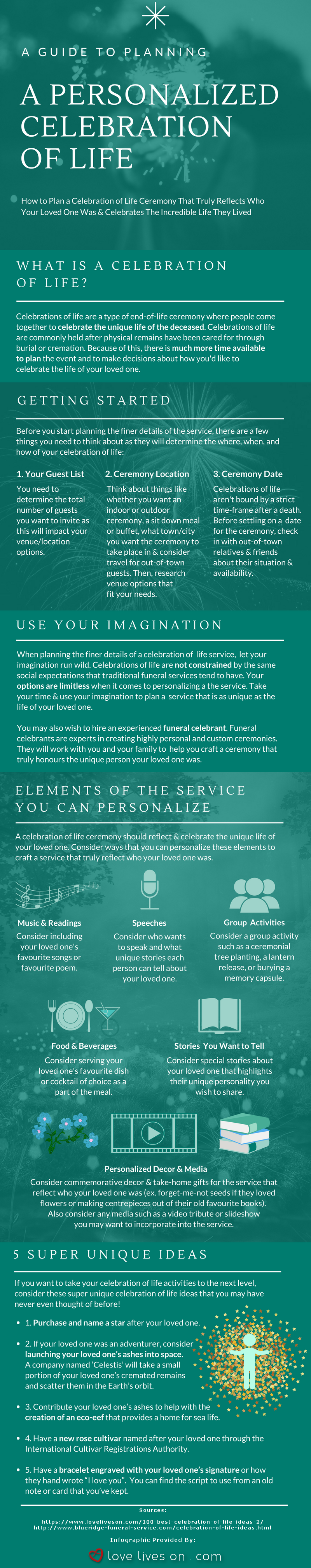 How to Plan a Celebration of Life [Infographic]