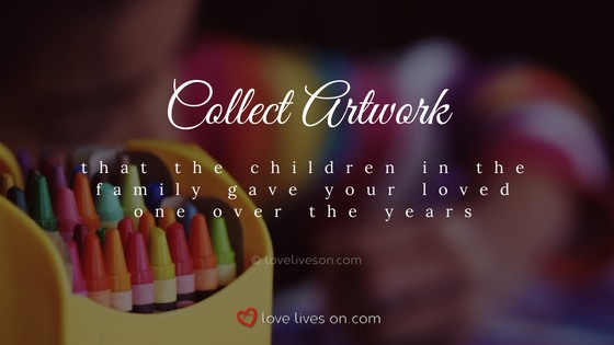 Celebration of Life Ideas: Collate Children's Artwork