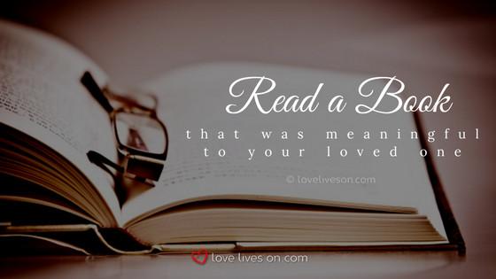 Celebration of Life Ideas: Read a Book