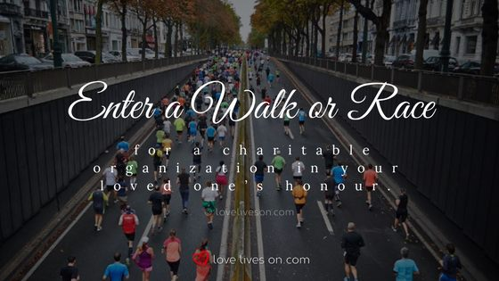 Celebration of Life Ideas: Enter a Race