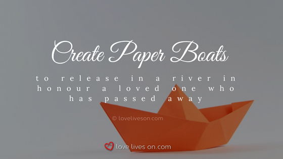 Celebration of Life Ideas: Sail Paper Boats