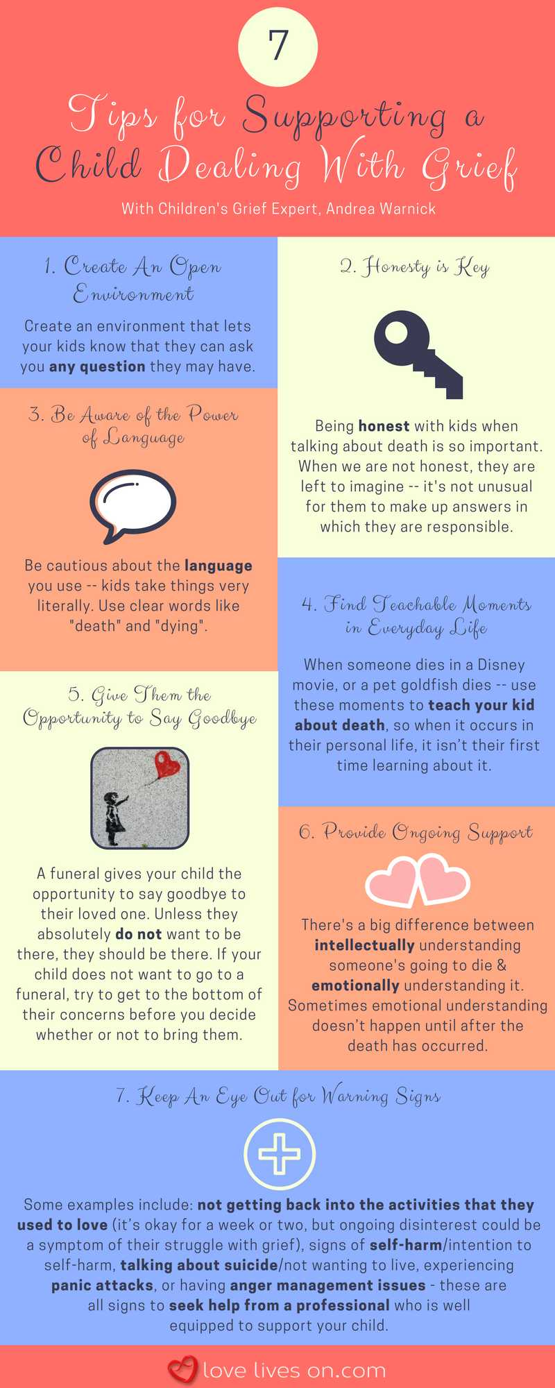 Infogrpahic: 7 Tips for Supporting a Child Dealing With Grief