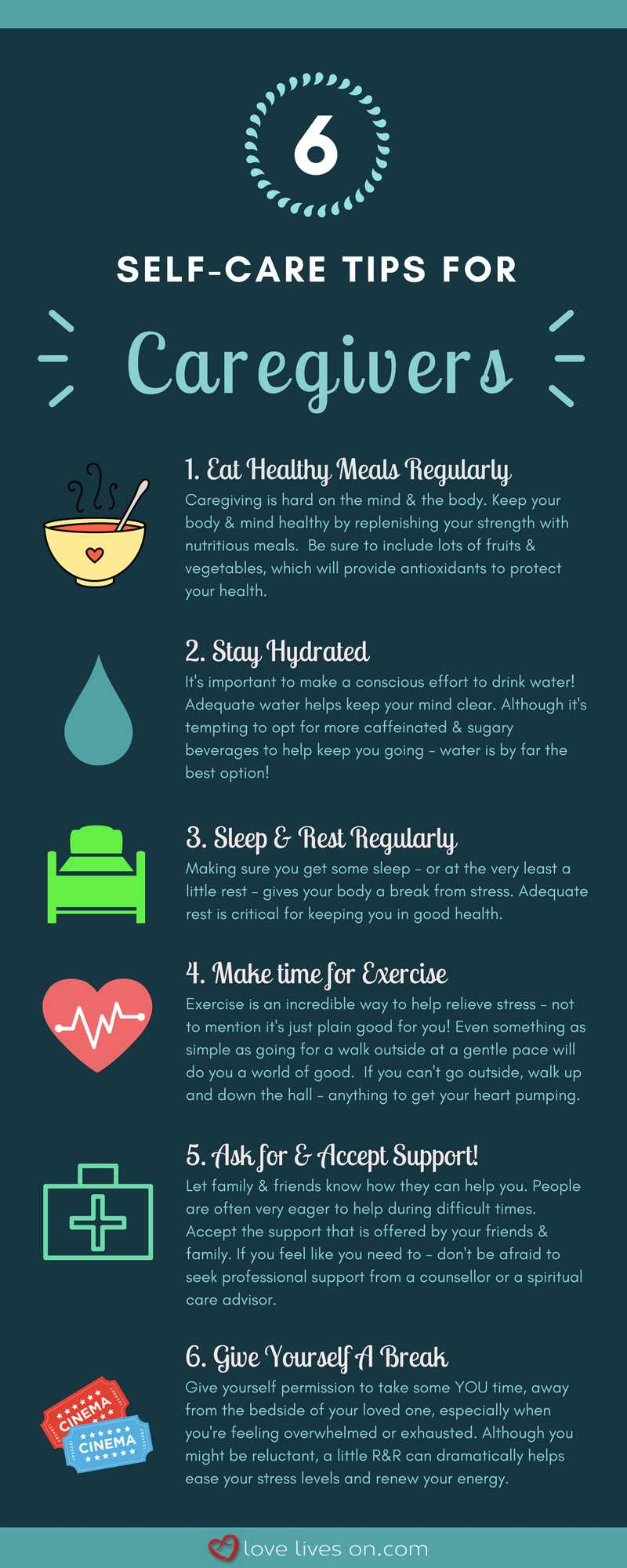 [Infographic] Self Care Tips for Caregivers