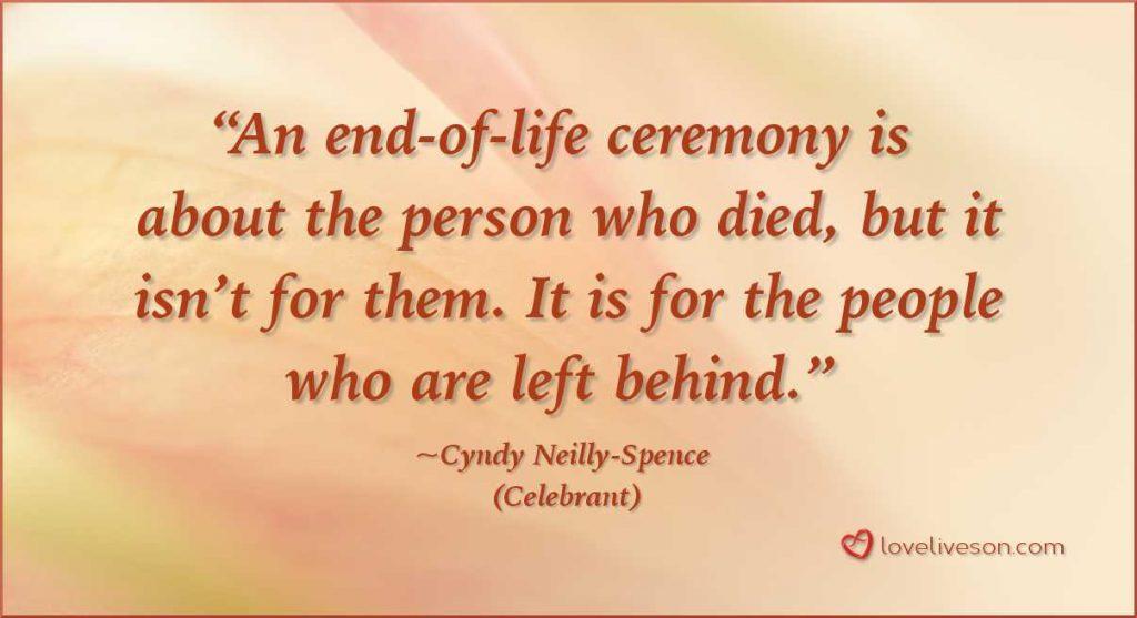 Funeral Celebrant Quote
