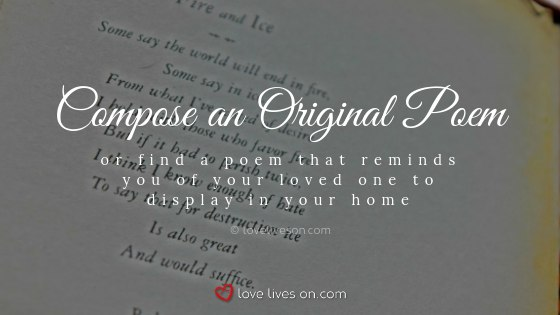 Remembering Loved Ones at Christmas with an Original Poem