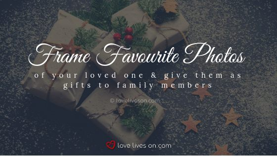 remembering loved ones at christmas frame favourite photos of your loved one