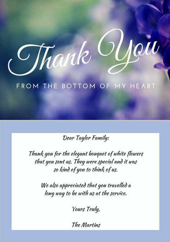 33 Best Funeral Thank You Cards – Sympathy Thank You Notes