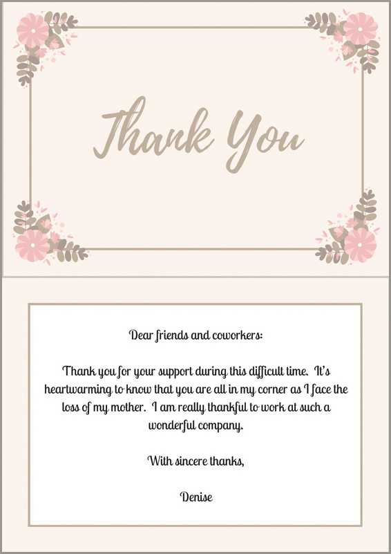 33 best funeral thank you cards love lives on sample thank you note after funeral to coworkers reheart Choice Image