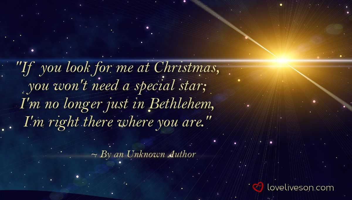 Christian Christmas Poem If You Look for Me at Christmas By an Unknown  Author 0390f9c2ea79