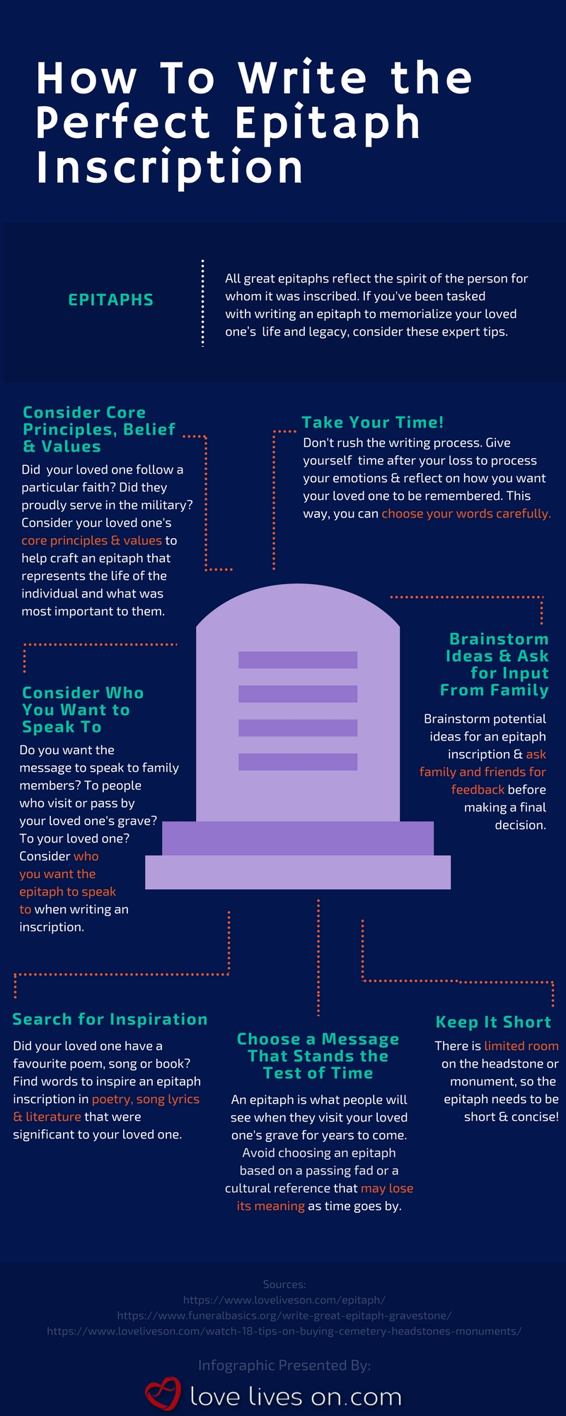 [Infographic] Tips for How to Write Epitaphs Infographic