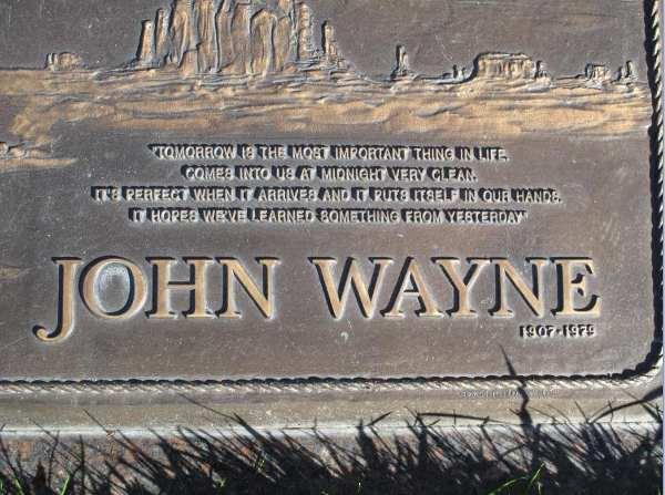 famous epitaphs: John Wayne
