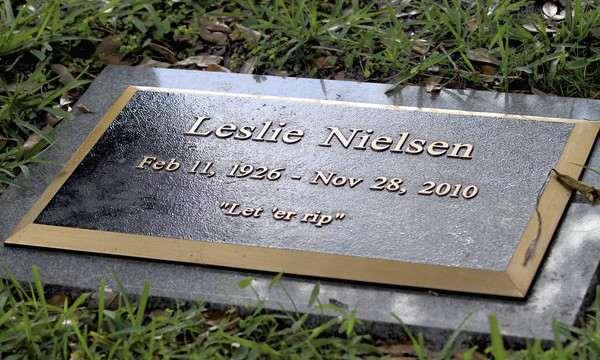Leslie Nielsen Funny Epitaphs