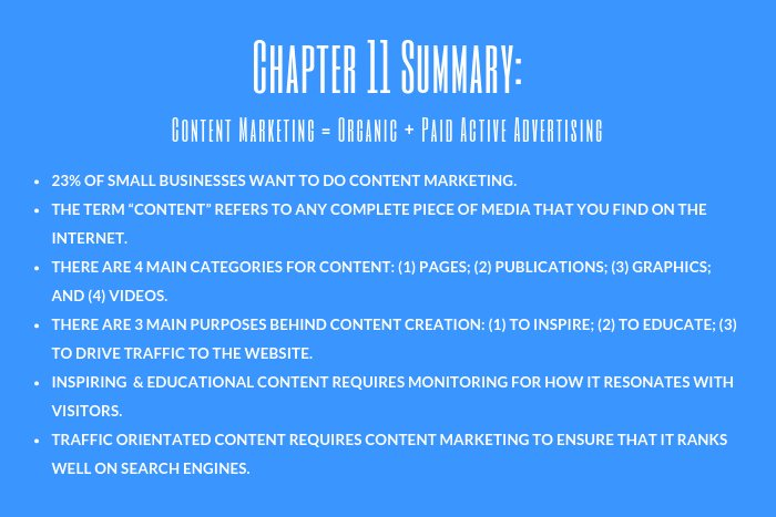 Lawyer Marketing Guide: Chapter 11 Summary