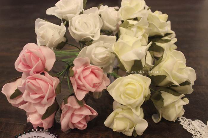 Memory Wreath: Adding Artificial Flowers