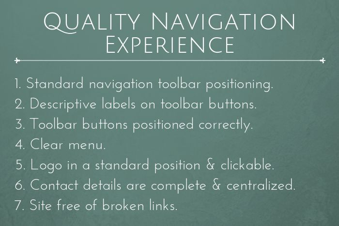 Law firm website navigation experience