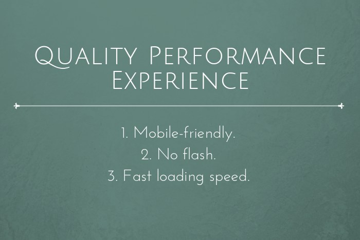 Law firm website performance experience