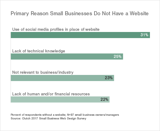 primary reasons small businesses do not have a website