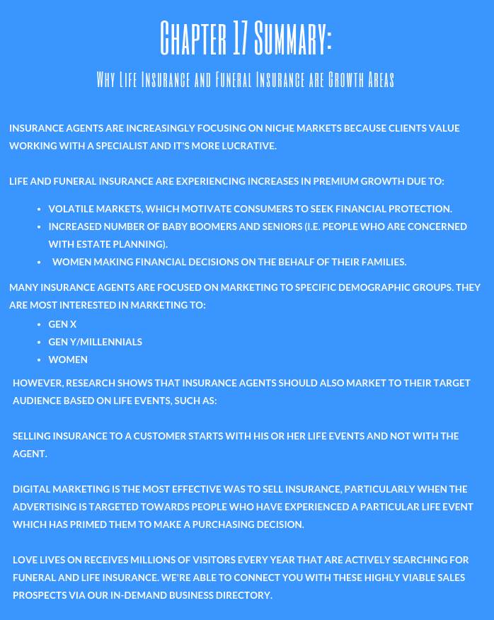 Insurance Marketing Guide: Chapter 17 Summary