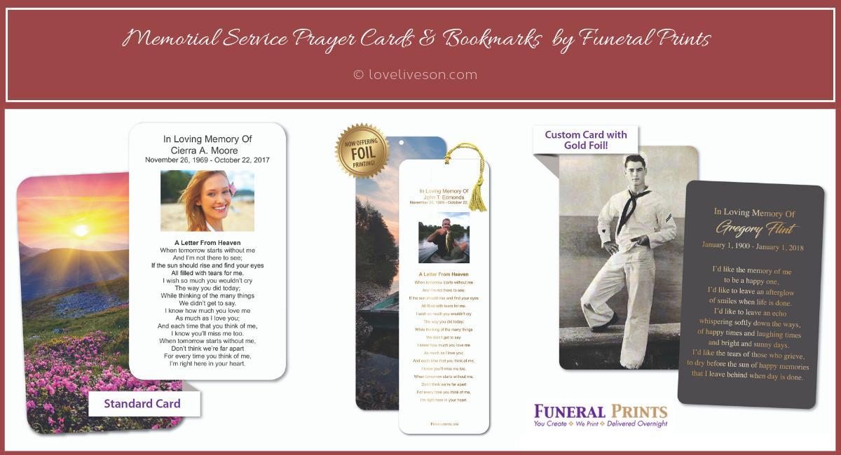 Memorial Service Keepsakes