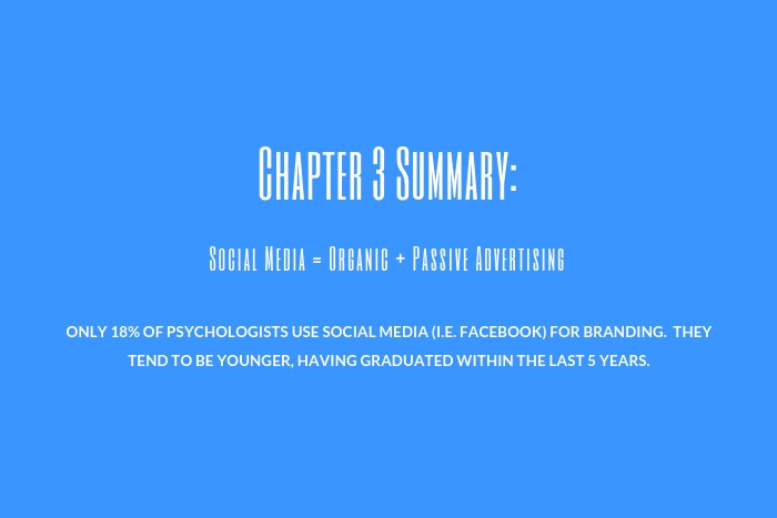 Psychologist Marketing Guide: Chapter 3 Summary