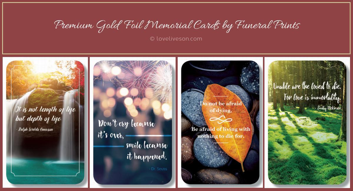 Premium Memorial Cards