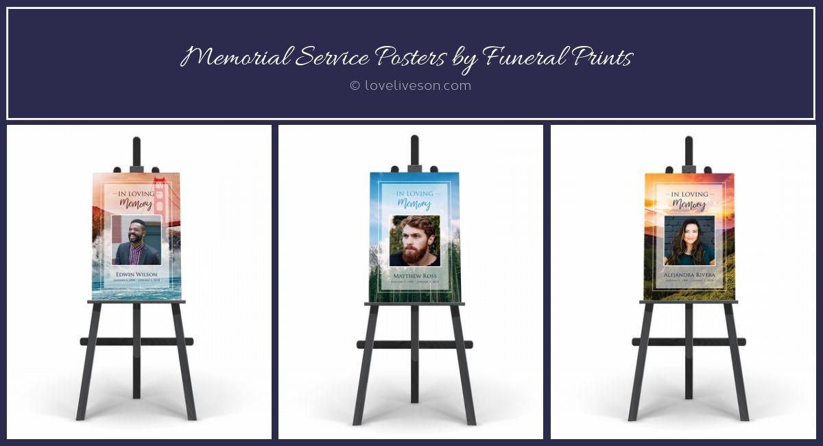 Memorial Service Posters