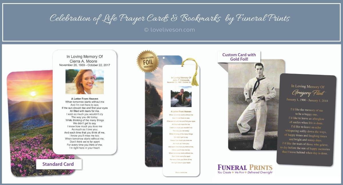 Celebration of Life Keepsakes