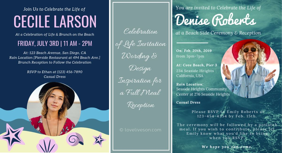 Celebration of Life Invitations