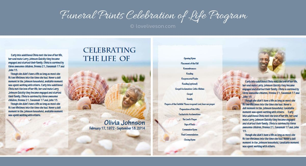 Celebration of Life Programs