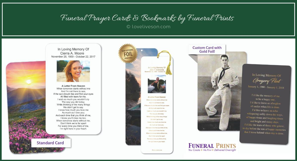 Funeral Service Ideas Golf Theme Love Lives On