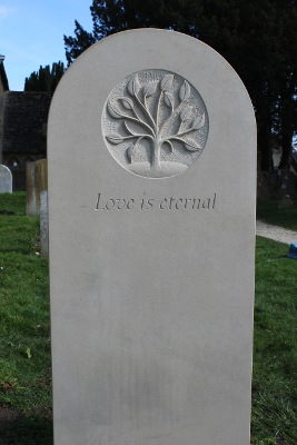 Headstone Design that's Simple, Yet Strong