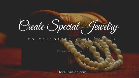Create special jewelry to celebrate your rainbow baby and angel baby