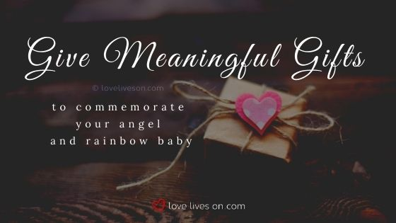Special gifts to celebrate your rainbow baby and angel baby